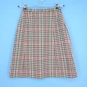 Vintage Union Made Houndstooth Plaid Skirt (L2)